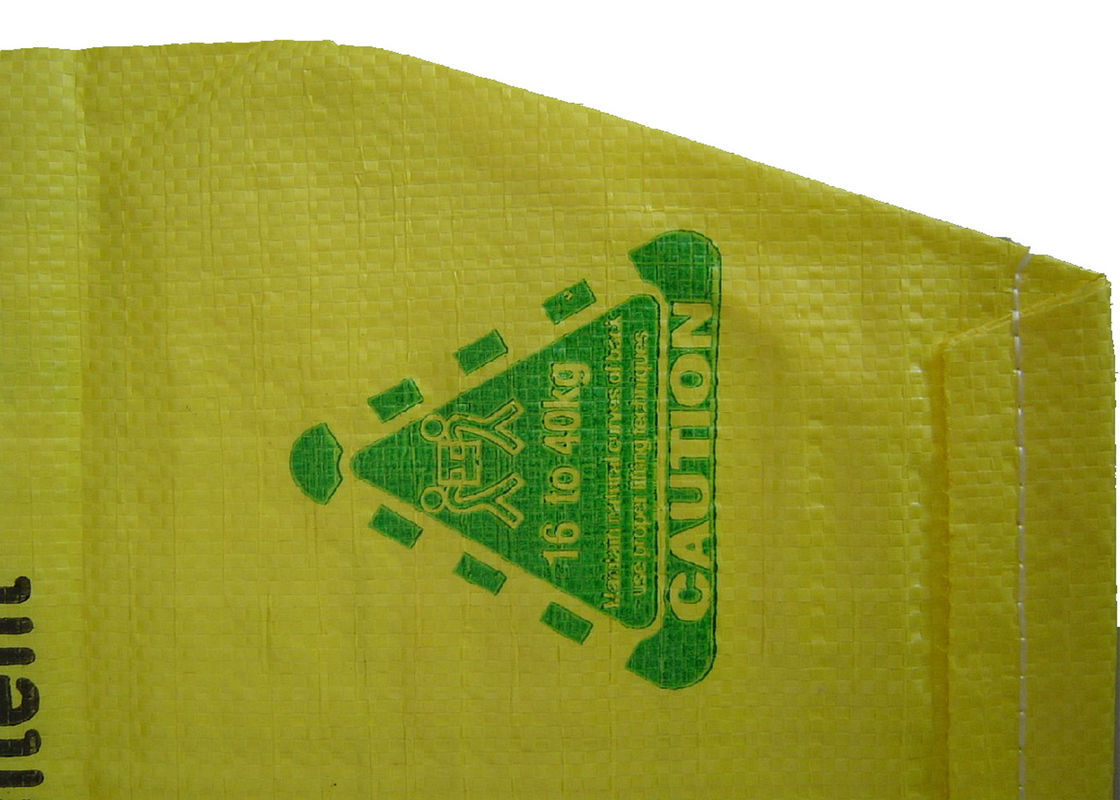 Square Bottom PP / PE Valve Bags Waterproof With Custom Color Printing